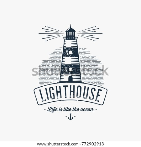 lighthouse design element in
