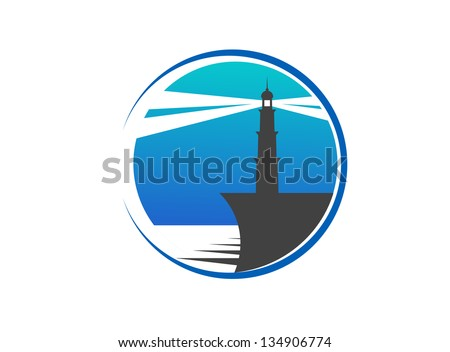 Lighthouse emblem. Jpeg version also available in gallery