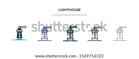 lighthouse icon in different