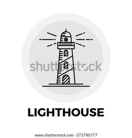 Lighthouse  icon vector. Flat icon isolated on the white background. Vector illustration.