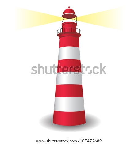 Lighthouse icon with light