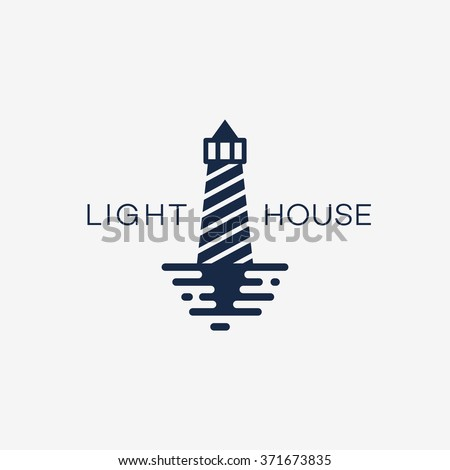 Lighthouse logo template design. Vector illustration.