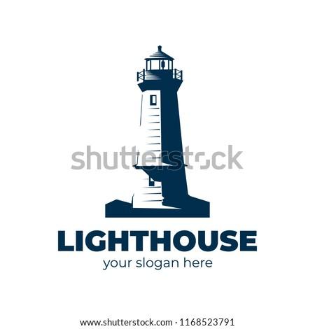 lighthouse logo. vector design