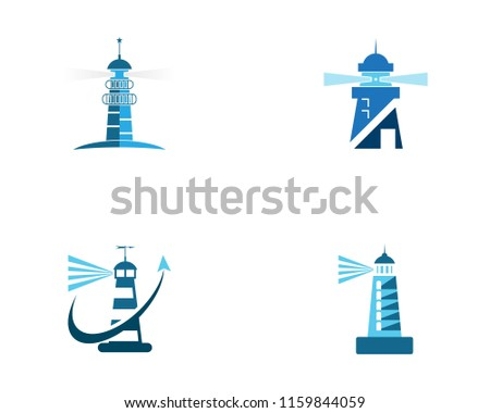 Lighthouse logo vector template