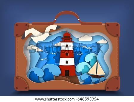 lighthouse on coast inside