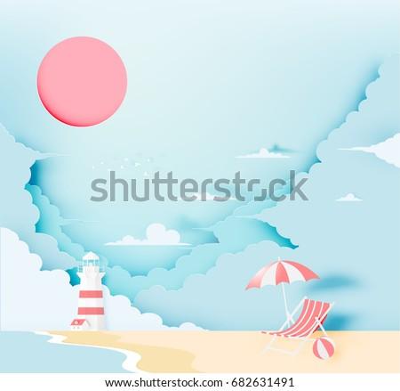 lighthouse on the beach with