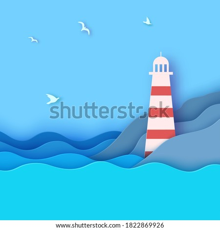 lighthouse on the shore of a