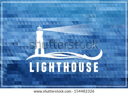 lighthouse postcard  poster