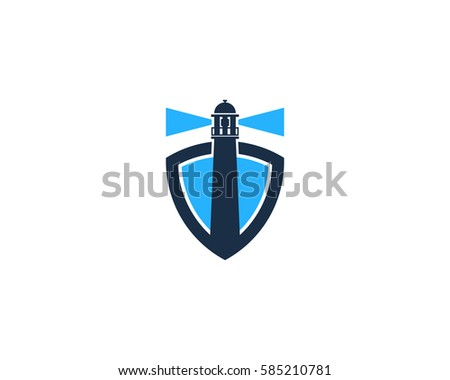 Lighthouse Shield Logo Design Element