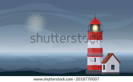 lighthouse tower and small