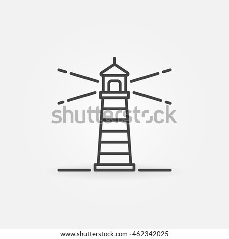 Lighthouse vector icon. Minimal symbol or sign in thin line style