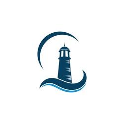 lighthouse vector illustration design template