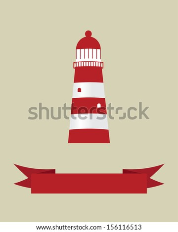 Lighthouse. Vector illustration for your design