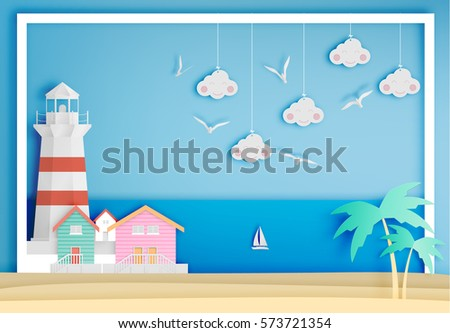 lighthouse with ocean