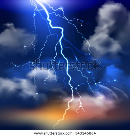 lightning and stormy sky with