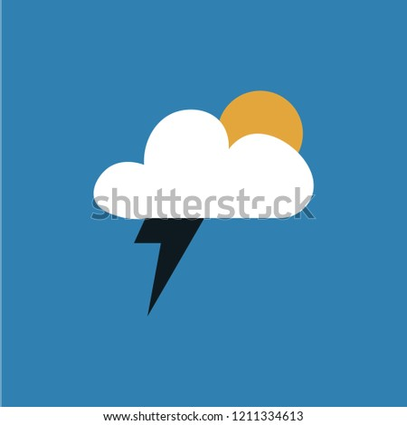 lightning and sunny weather