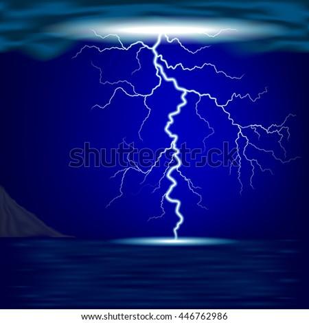lightning and the sea
