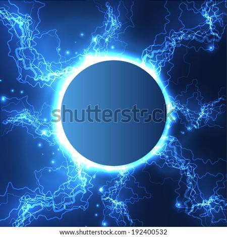 lightning ball vector
