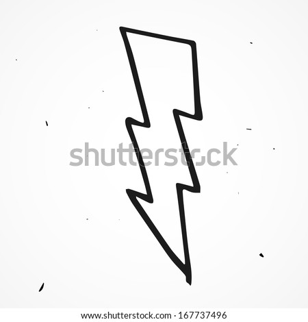 Lighting Bolt Drawings Lightning Bolt Hand Drawn