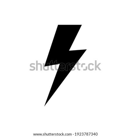 lightning bolt icon of glyph style design vector template