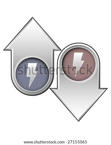 Lightning bolt icon on up and down arrow buttons