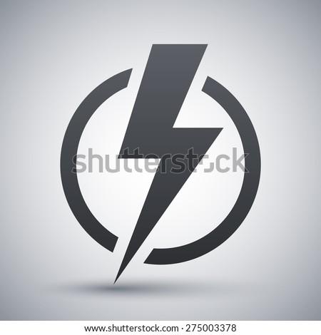 lightning bolt icon  vector