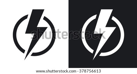 lightning bolt icon free vector 123freevectors