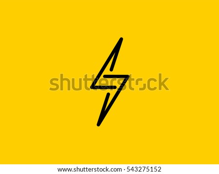 Lightning Bolt Minimal Simple Symbol. Creative Flash Sign design Vector template. Energy Power Speed  sc 1 st  Vecteezy & Lightning Bolt Icon - Download Free Vector Art Stock Graphics ... azcodes.com