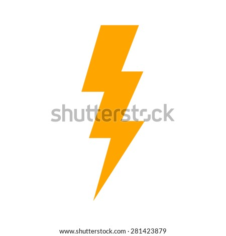 Lightning bolt, thunder bolt, lighting strike expertise flat icon for apps and websites