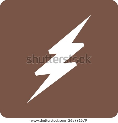 Lightning, bolt, thunder icon vector image. Can also be used for weather, forecast, season, climate, meteorology. Suitable for web apps, mobile apps and print media.