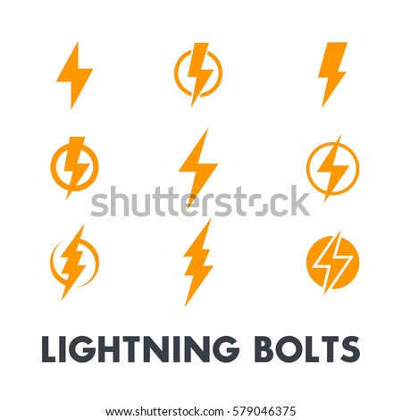 lightning bolt vector signs