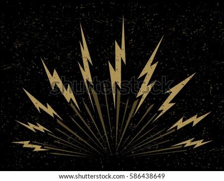 lightning bolts bursting on