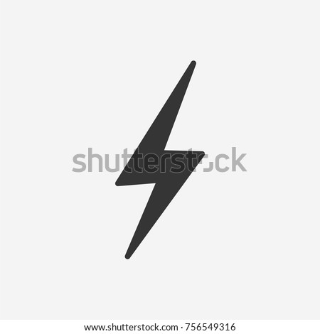 Lightning icon illustration isolated vector sign symbol
