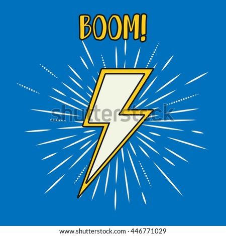 Lightning icon. Lightning cartoon.