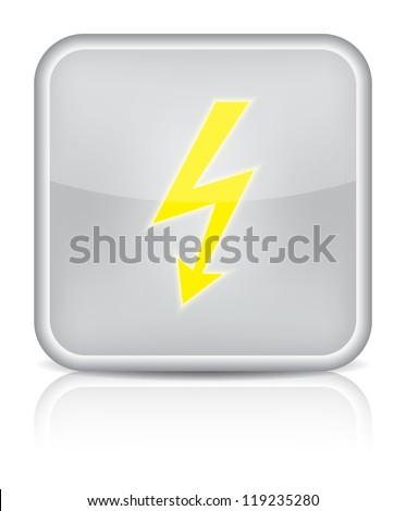 lightning icon on white background. Vector illustration