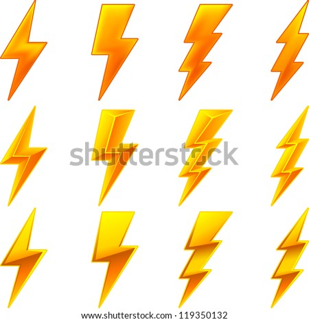 Lightning icon set