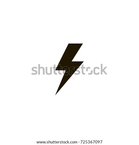 lightning icon. sign design
