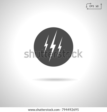 lightning icon  sign vector