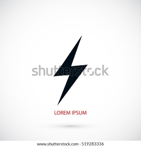 Lightning icon vector, flat design best vector icon