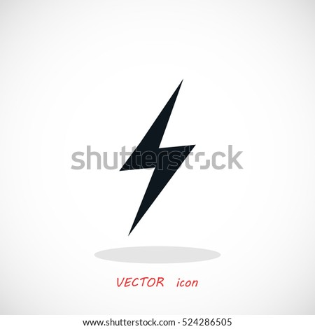 lightning icon vector  flat