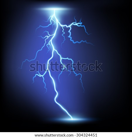 lightning isolated on a black