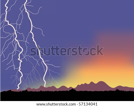 lightning mountains in the