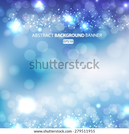 lights on blue background bokeh