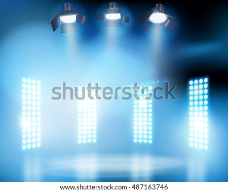 lights on the stage vector