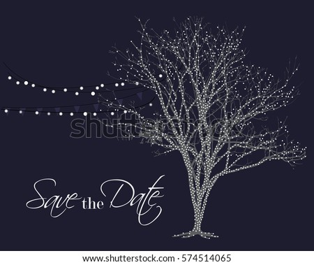 lights on tree vector save the