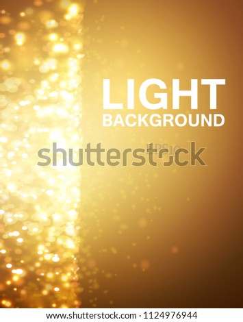 lights on yellow background