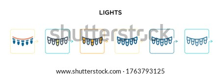 lights vector icon in 6