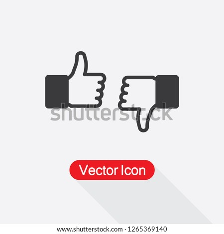 Like and Dislike Icon, Thumb up Icon Vector Illustration Eps10