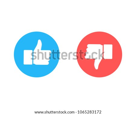 Like and dislike icons collection set. Thumbs up and thumbs down. Modern graphic elements for web banners, web sites, printed materials, infographics. Vector illustration isolated on white background