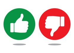 Like and Dislike Icons, Symbols, Vector Design